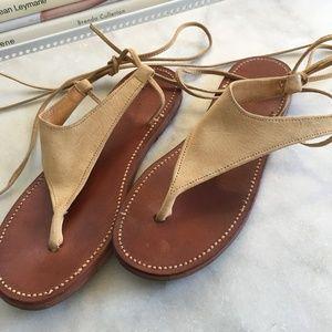 Ralph Lauren Suede Lace Up Sandals